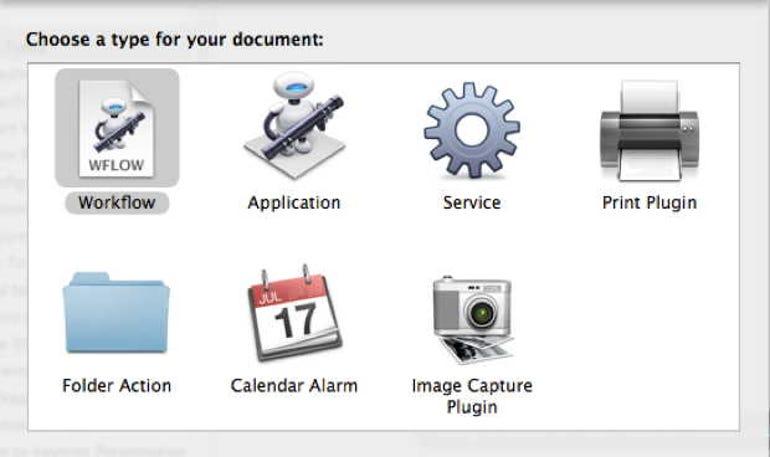 Apple Automator creates AppleScripts to help automate professional workflows.