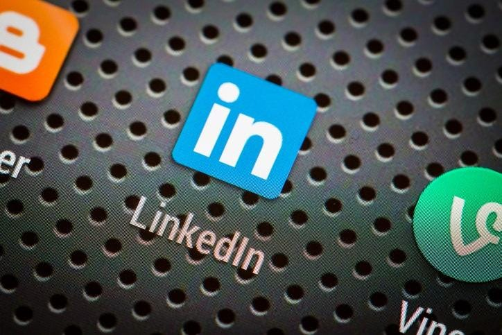 Social media icons on smart phone screen.