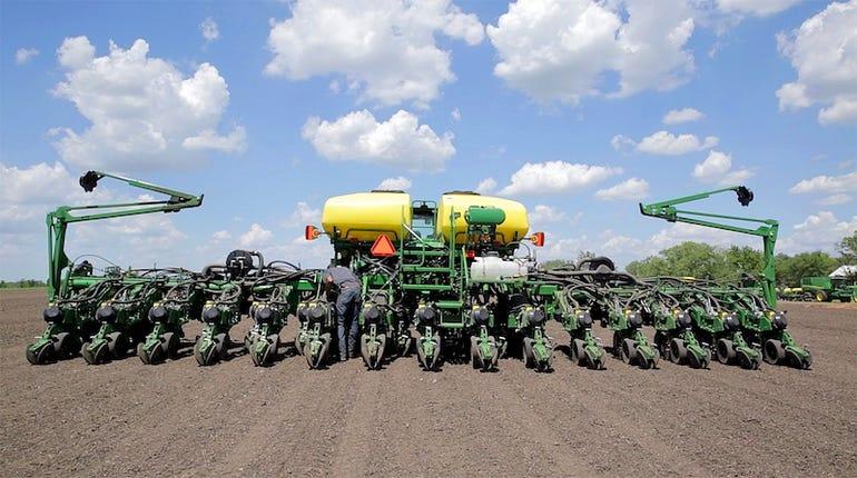The John Deere row crop tractor