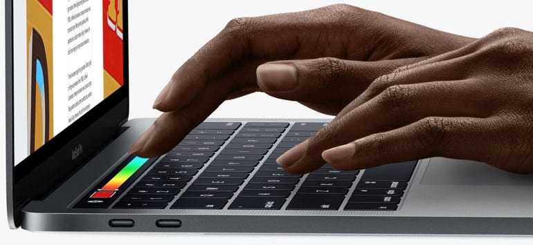 Touch Bar on the new MacBook Pro