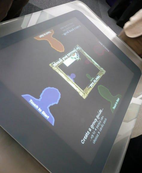 Open University Surface touchscreen Group Tour app