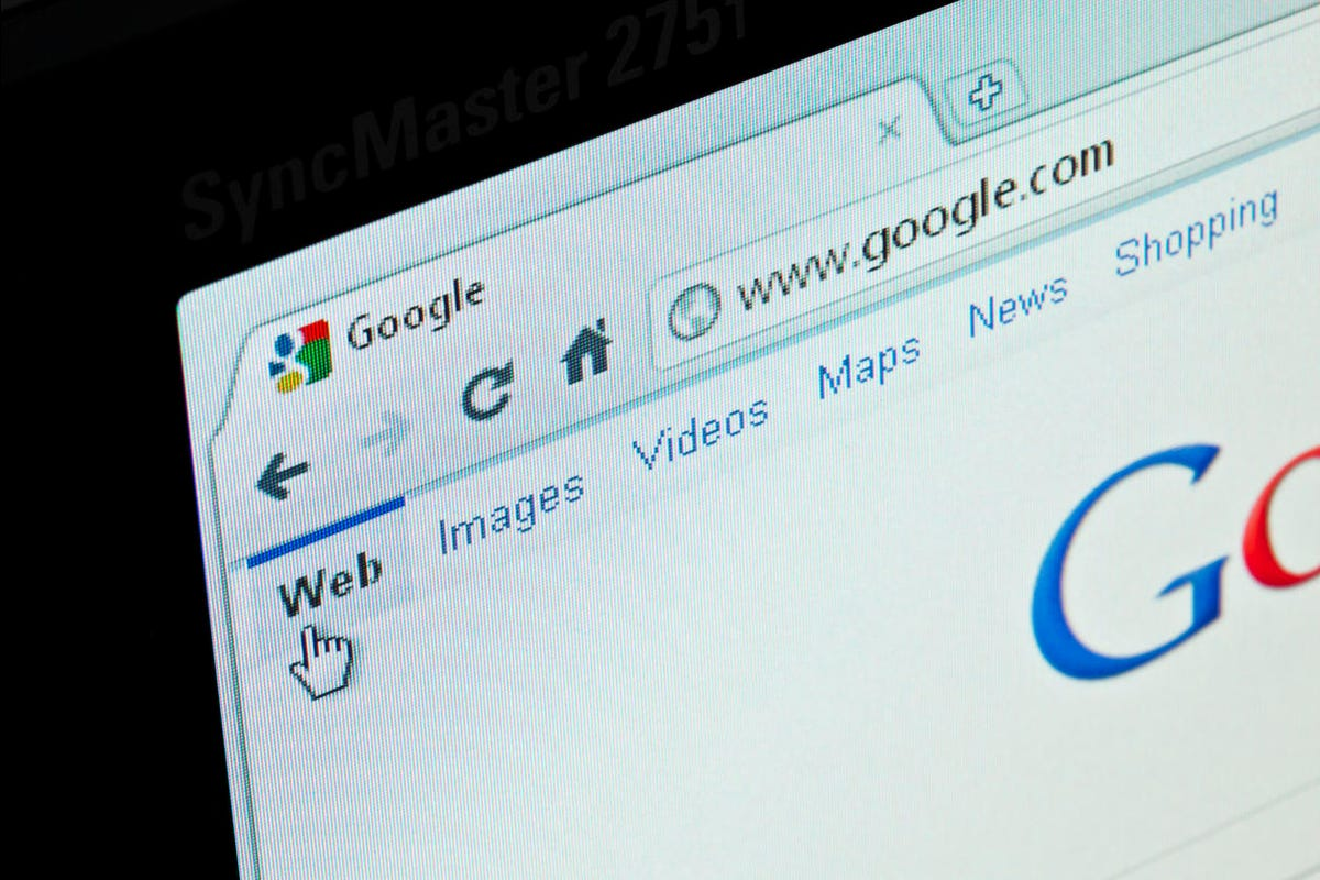 Google search web site in GoogleChrome browser