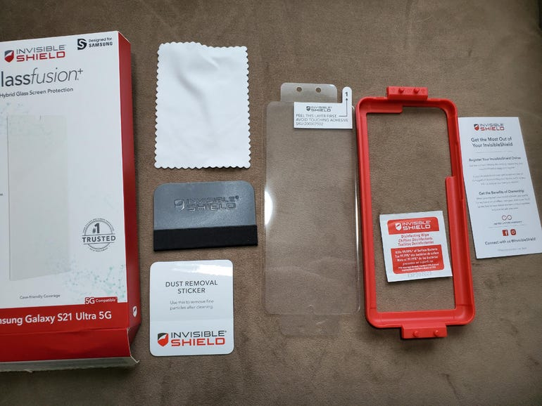 InvisibleShield GlassFusion+ for the Galaxy S21 Ultra