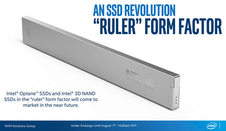 Intel shows off new 'Ruler' SSD