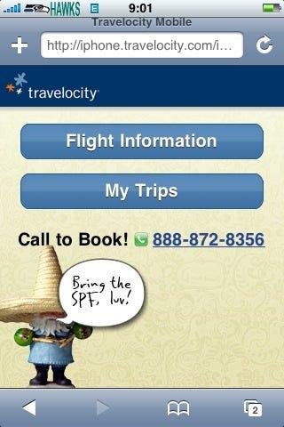 iPhone Travelocity 1