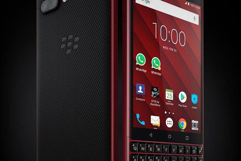 BlackBerry Red Edition KEY2 phone