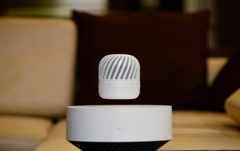 LG's levitating speakers
