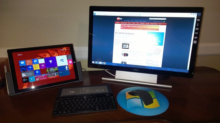 My Surface Pro 3 home office setup