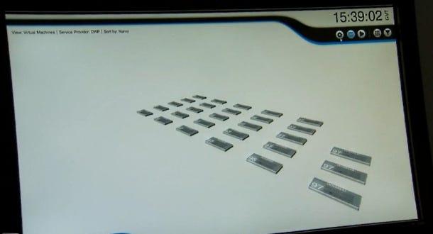 HP virtual machine user interface