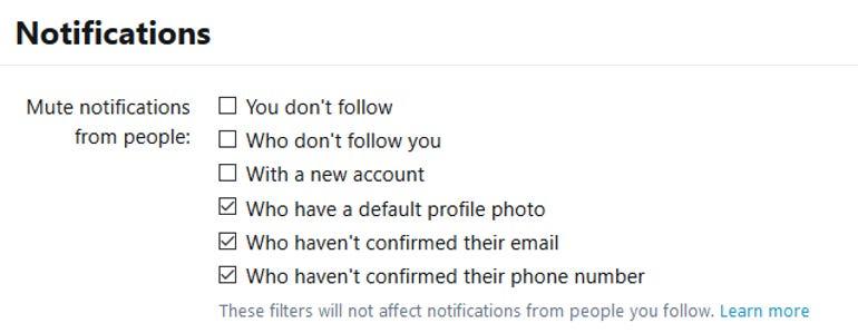 twitter notifications settings