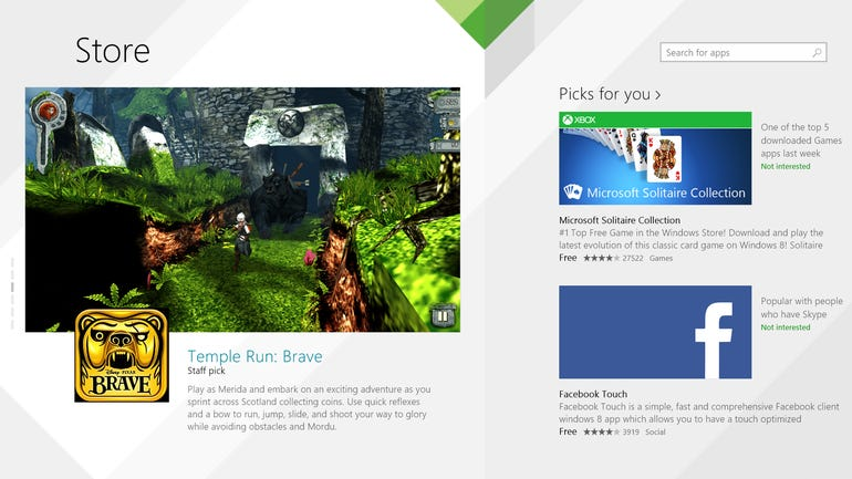 A new look for the Windows 8.1 Store