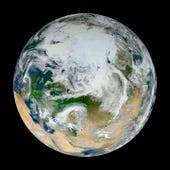 Clouds over Earth-photo by NASA VisibleEarth site