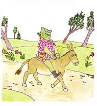Shrek drawing by William Stieg in The New York Times
