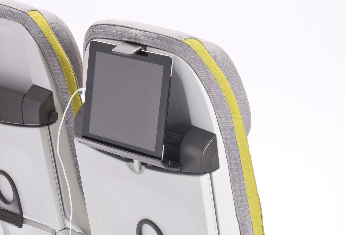 Airplane seat redesign for tablets