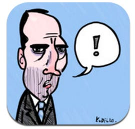 Logo of app for the sharp-tongued former Aussie PM, Paul Keating