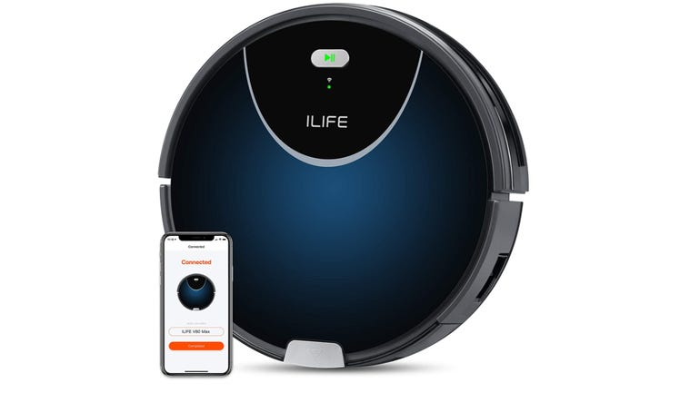 ILife V80 Max review extra large dustbin and powerful carpet cleaning from a two-in-one robot zdnet