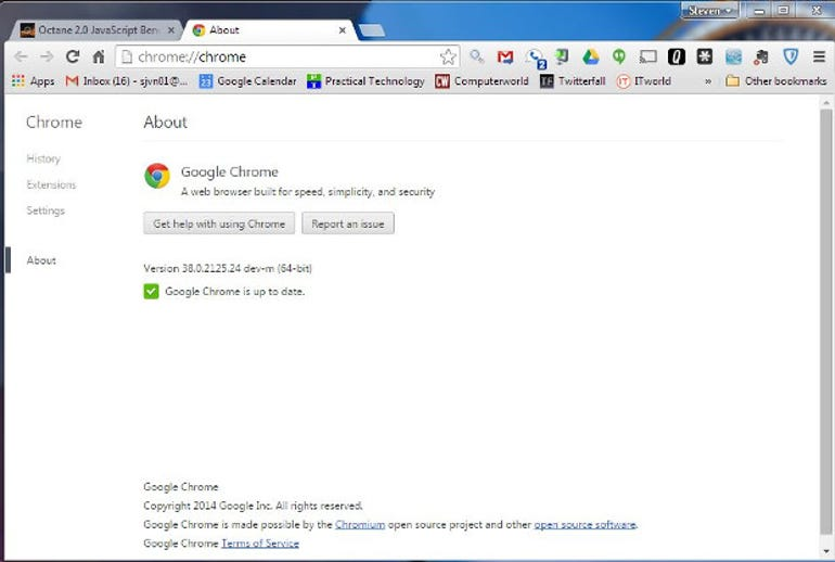 Chrome 38 64-bit
