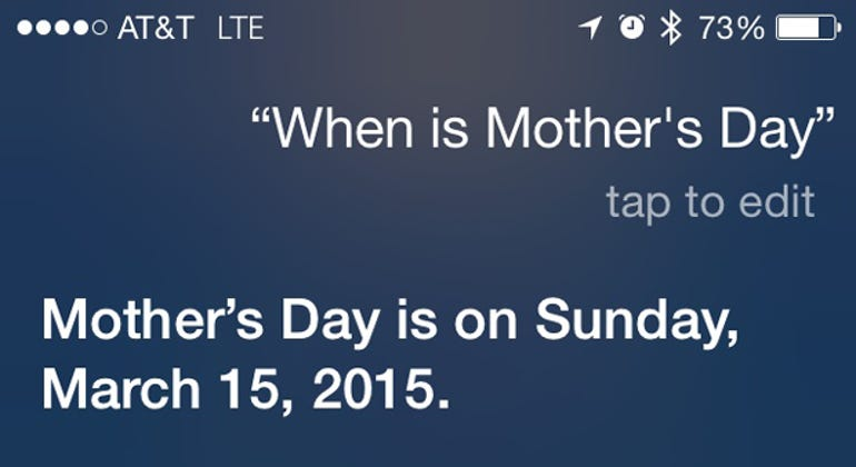 Siri can't even get Mother's Day right! - Jason O'Grady