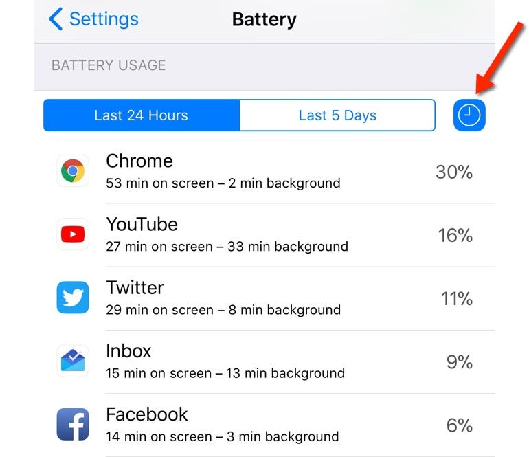Background refresh settings in iOS 11, this time showing greater detail