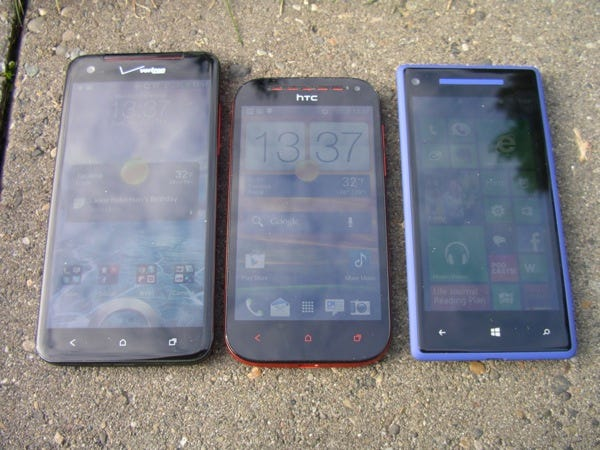 Front of the current HTC lineup
