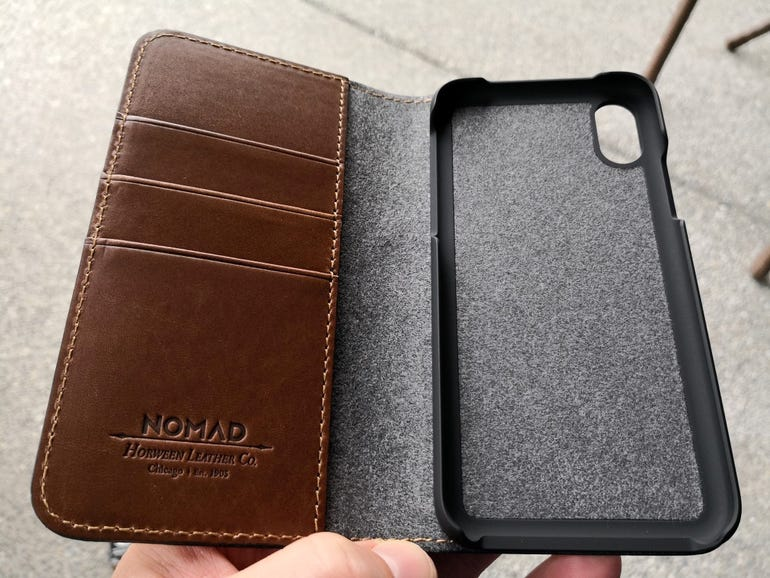 Leather Folio before inserting an iPhone X