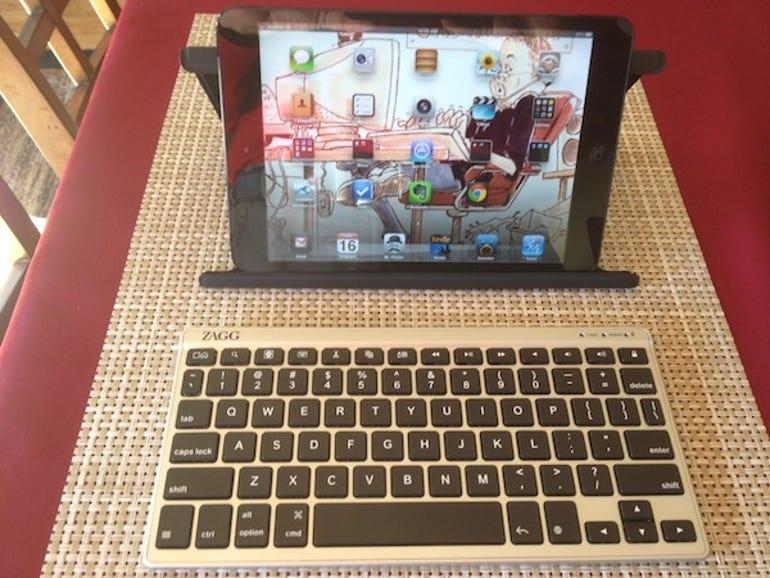 Keyboard in use