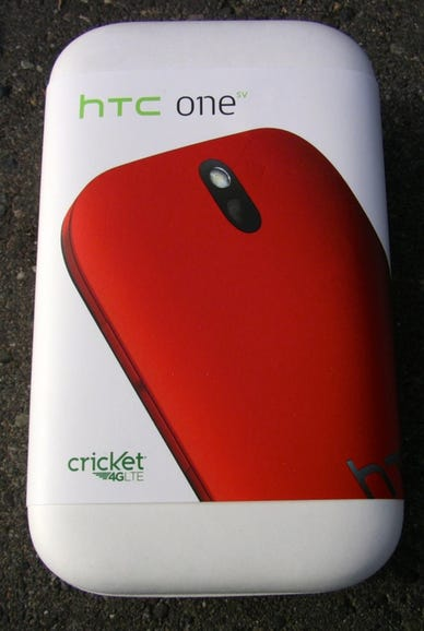 HTC One SV retail box for Cricket