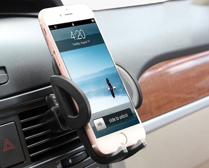A dashboard mount for your rental car