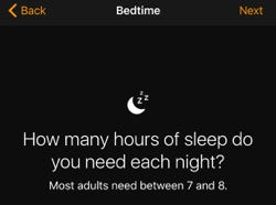 iOS 10 Bedtime app