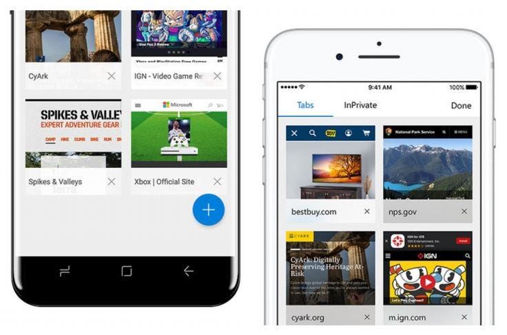 Microsoft Edge for iOS/Android - Tabs
