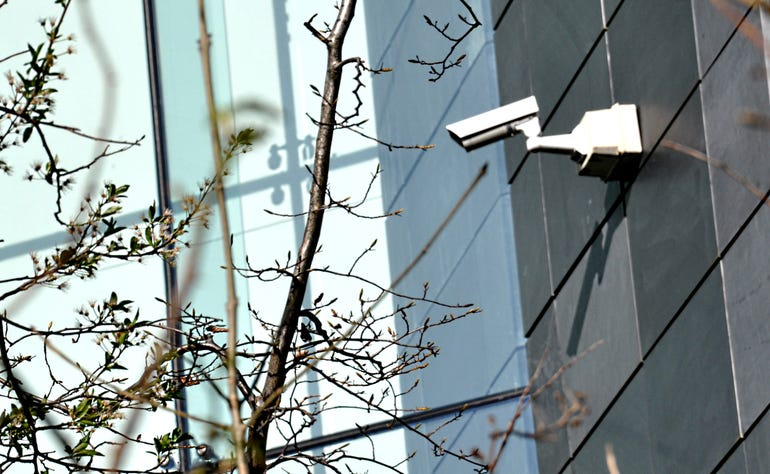 Security camera on a modern building