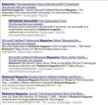 Redmond Magazine SQL Injected