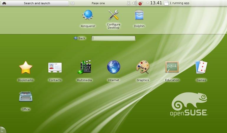 What the KDE netbook desktop looks like