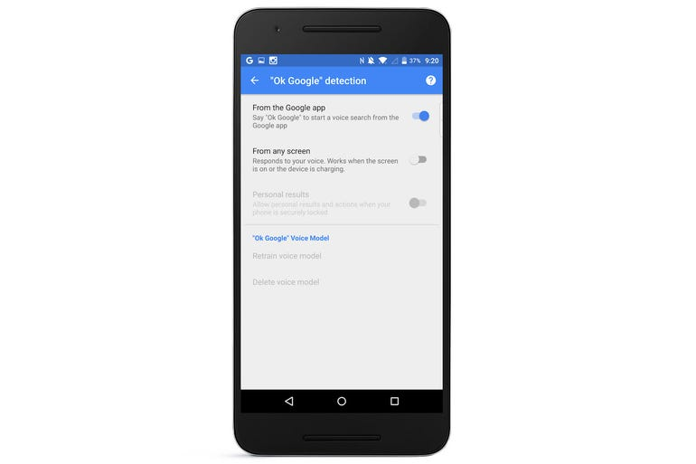 7. Limit who can use Google Now