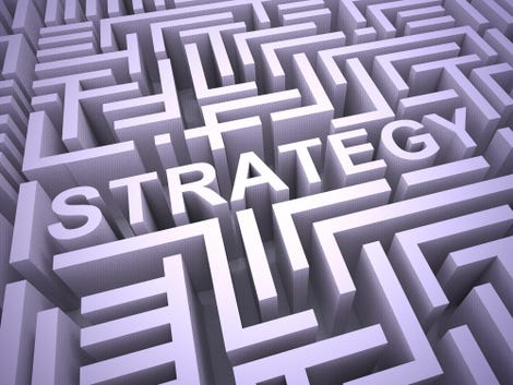 Business strategy concept icon means an overall plan of operation - 3d illustration