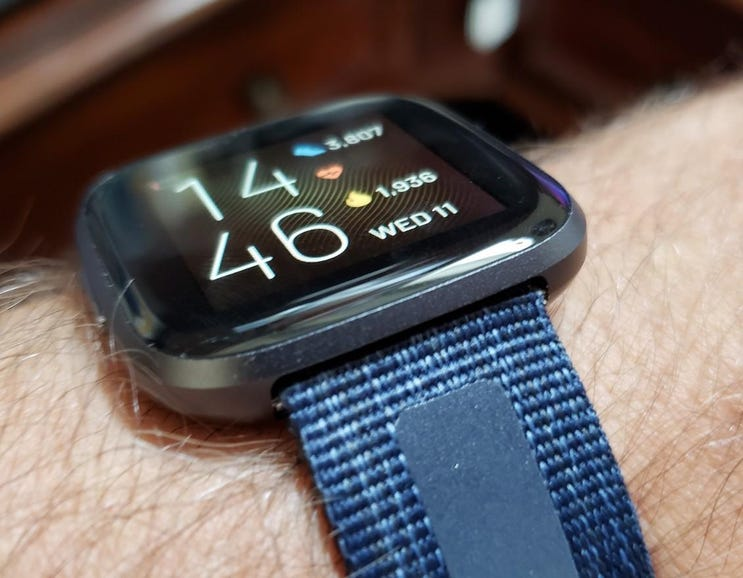 Wearing the Fitbit Versa 2