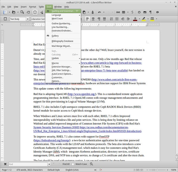 LibreOffice: The best office-suite on any OS
