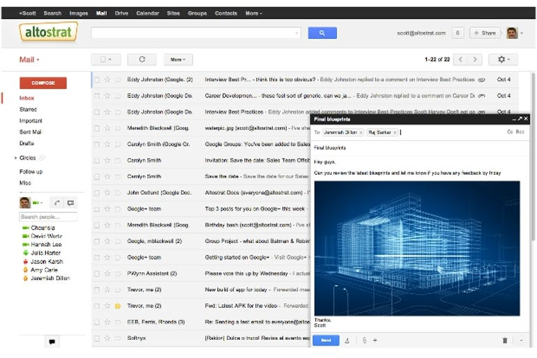 The new Gmail email-composing mechanism
