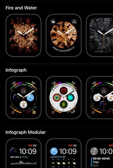 Some new watch face options
