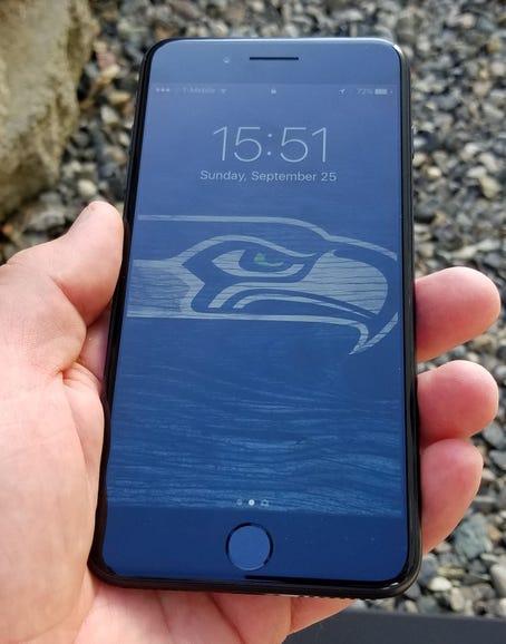 iPhone 7 Plus in hand