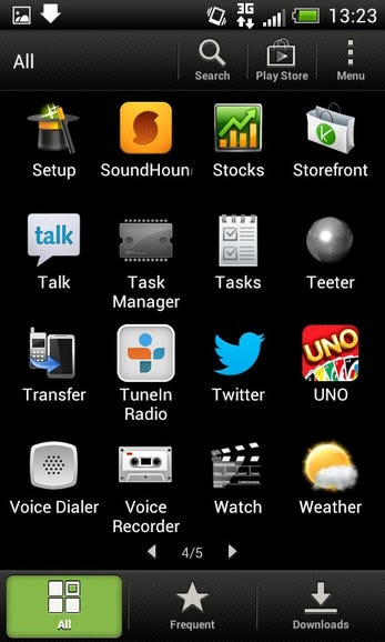 Installed apps and services, 4/5