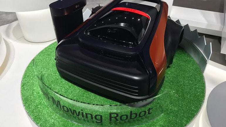 LG's lawn-mowing robot