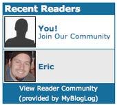 MyBlogLog Recent Readers widget