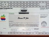 Want to own Steve Jobs' first Apple stock certificate? That'll be $195,000