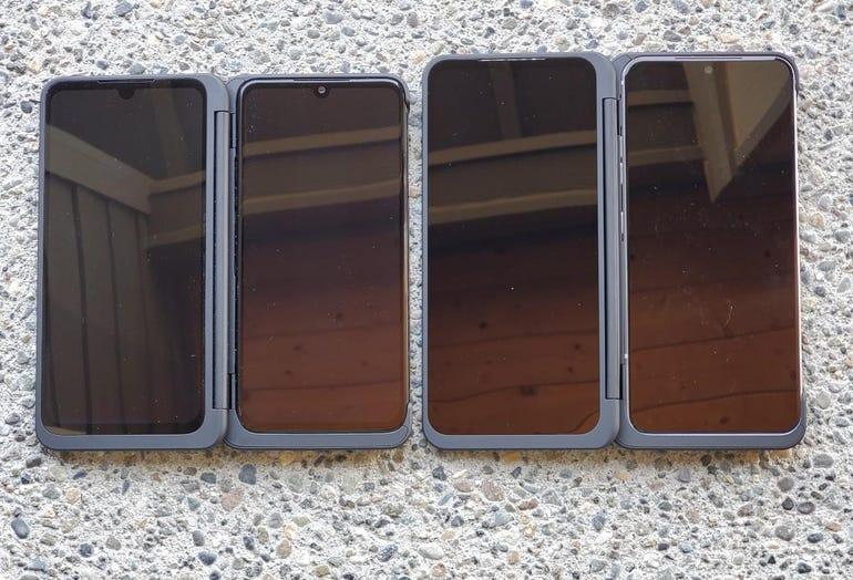LG G8X vs LG V60 with Dual Screen covers