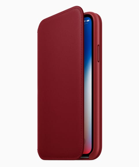 iPhone X gains red leather case