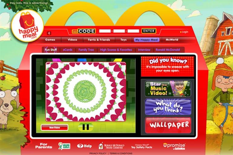 ftc complaint marketing children mcdonalds campaign