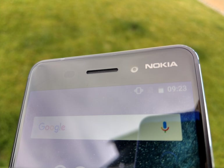 Nokia brand and front speaker