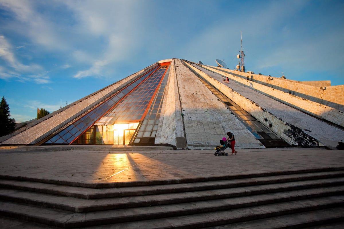 Pyramid of Enver Hoxha in Tirana, Albania