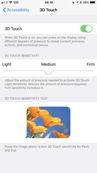 Customize 3D Touch press